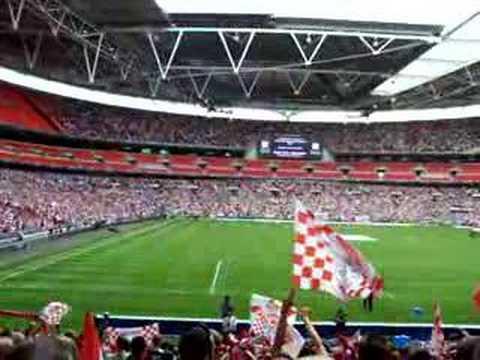 Morecambe FC at Wembley 20th May 2007 National Anthem