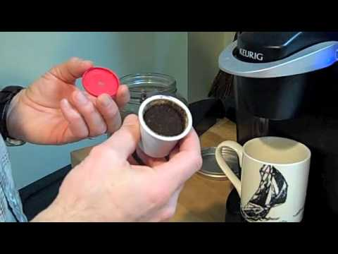 how to make a reusable k cup lid youtube. Black Bedroom Furniture Sets. Home Design Ideas