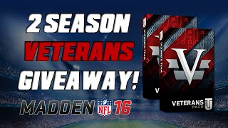 Giving Away 2 Season Veterans! | Madden 16 Ultimate Team - Seasons Veteran Pack Opening