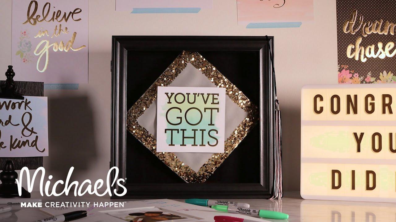 easy grad cap diy | michaels - youtube