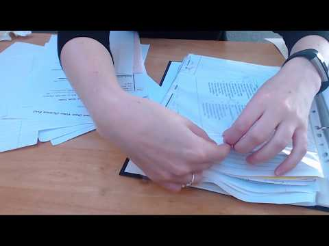 ASMR Sorting Paper Documents In To Binder Intoxicating Sounds Sleep Help Relaxation