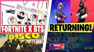 NEW Fortnite x BTS Concert! *2 Exclusive K-pop Emotes* Ikonik Skin Returning? World Cup Leaked!