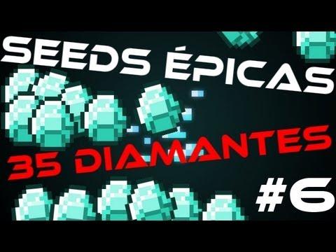 Seeds Épicas #6 [1.6.4] - 35 diamantes em uma única caverna!!