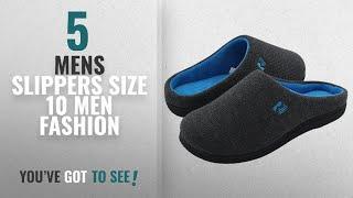 Top 10 Mens Slippers Size 10 [Men Fashion Winter 2018 ]: RockDove Men's Two-Tone Memory Foam House