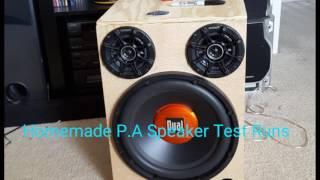 Homemade P.A Speaker Test