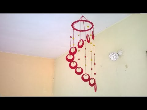 DIY Wind Chime || wall hanging using woolen || room decoration idea