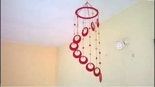 DIY Wind Chime || wall hanging using woolen || room decoration idea thumbnail