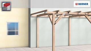 Ancoraggio di una pergola in legno