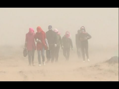 Strong Wind, Blowing Sand Hit China