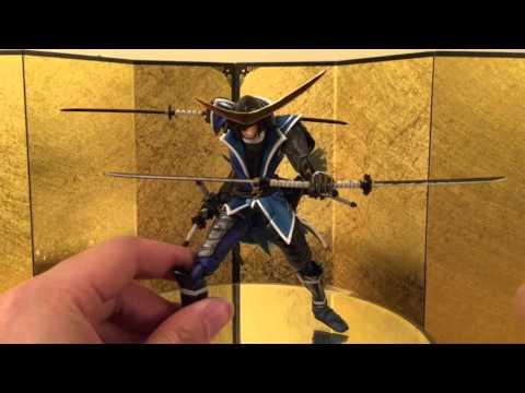 Sengoku Basara Date Masamune Revoltech Unboxing review & comparison