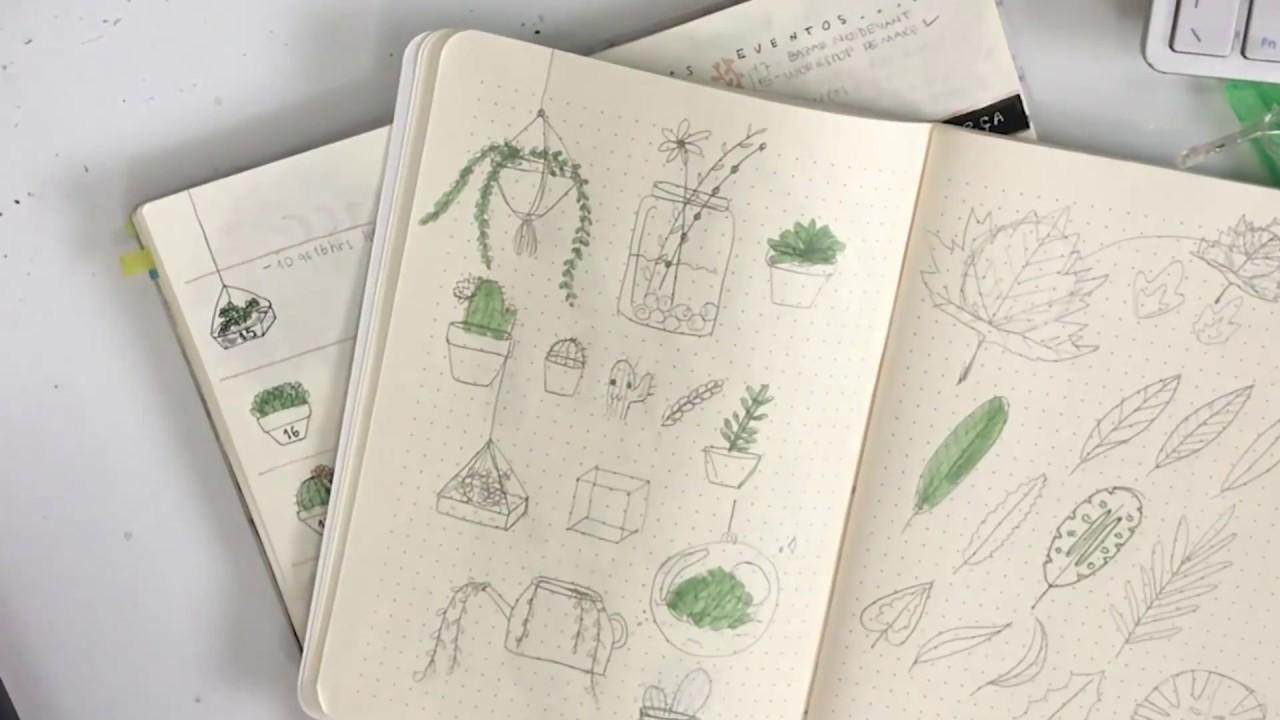 Desenhos Simples Para Bullet Journal 3 Plantas Youtube