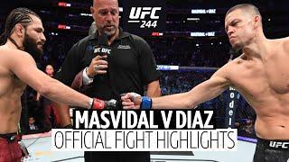 Jorge Masvidal v Nate Diaz UFC 244 highlights