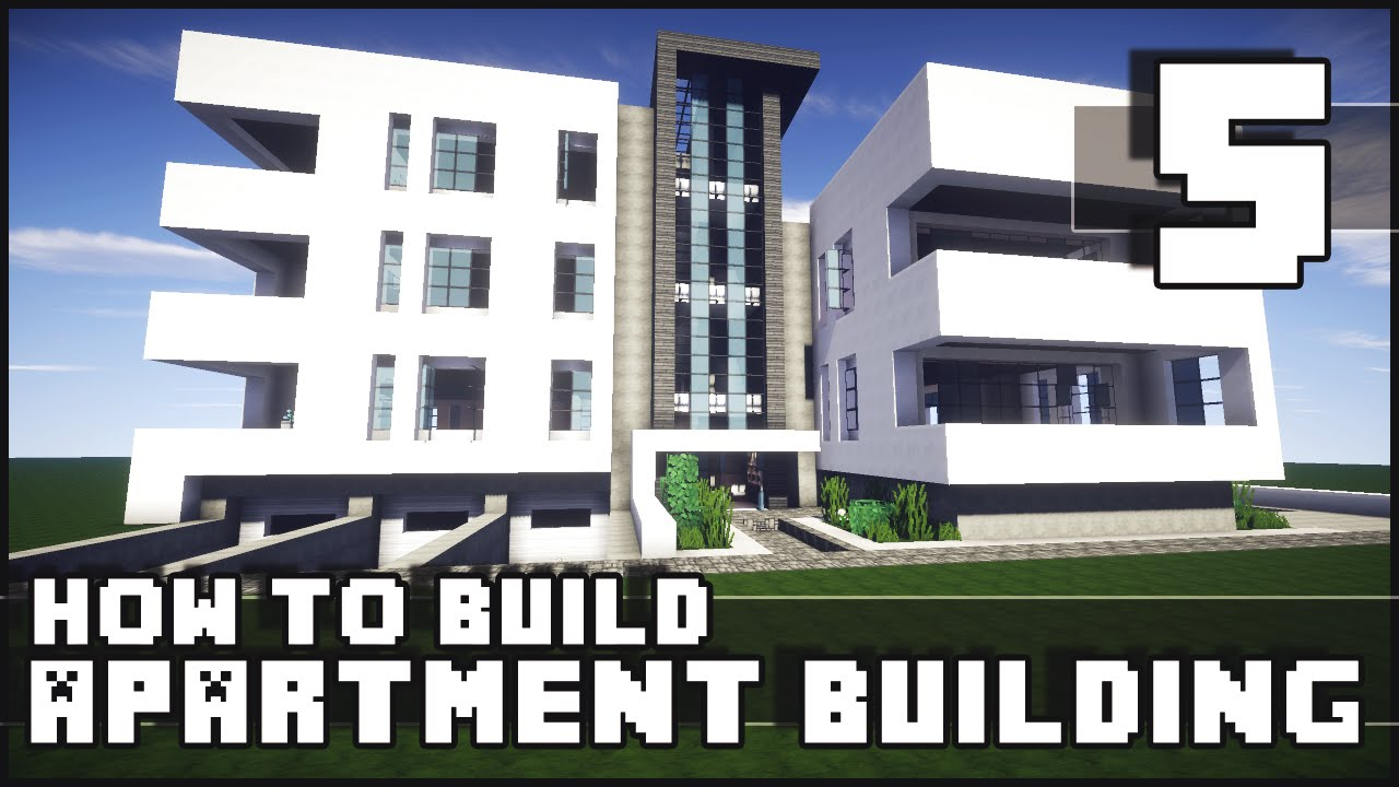 Minecraft how to build modern apartment building for How to build a modern home