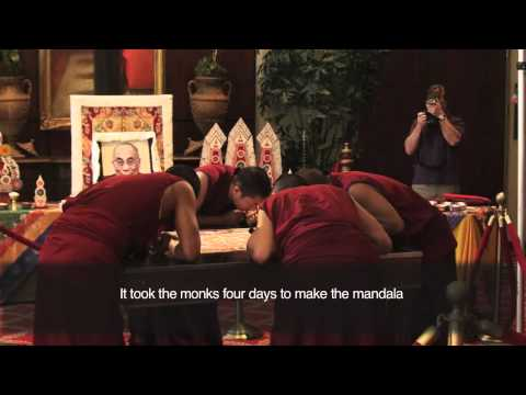 Buddhist Monks create sand mandala at UAB