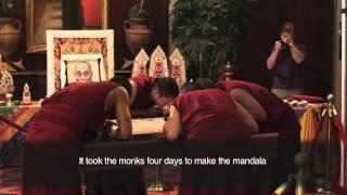 Buddhist Monks create sand mandala at UAB