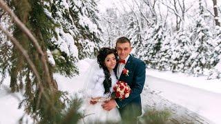 Ольга и Денис 21.01.2017 Красивая свадьба зимой в Харькове Видеооператор Видеограф