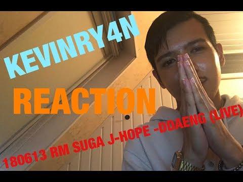 REACTION | 180613 RM SUGA J-HOPE -DDAENG (LIVE)