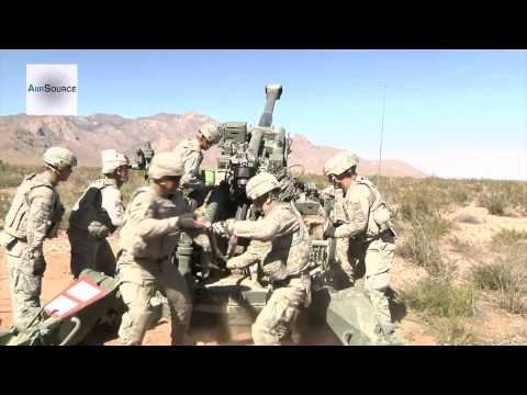Howitzer Indirect Fire - Soldiers Train During Network Integration Evaluation 13.1