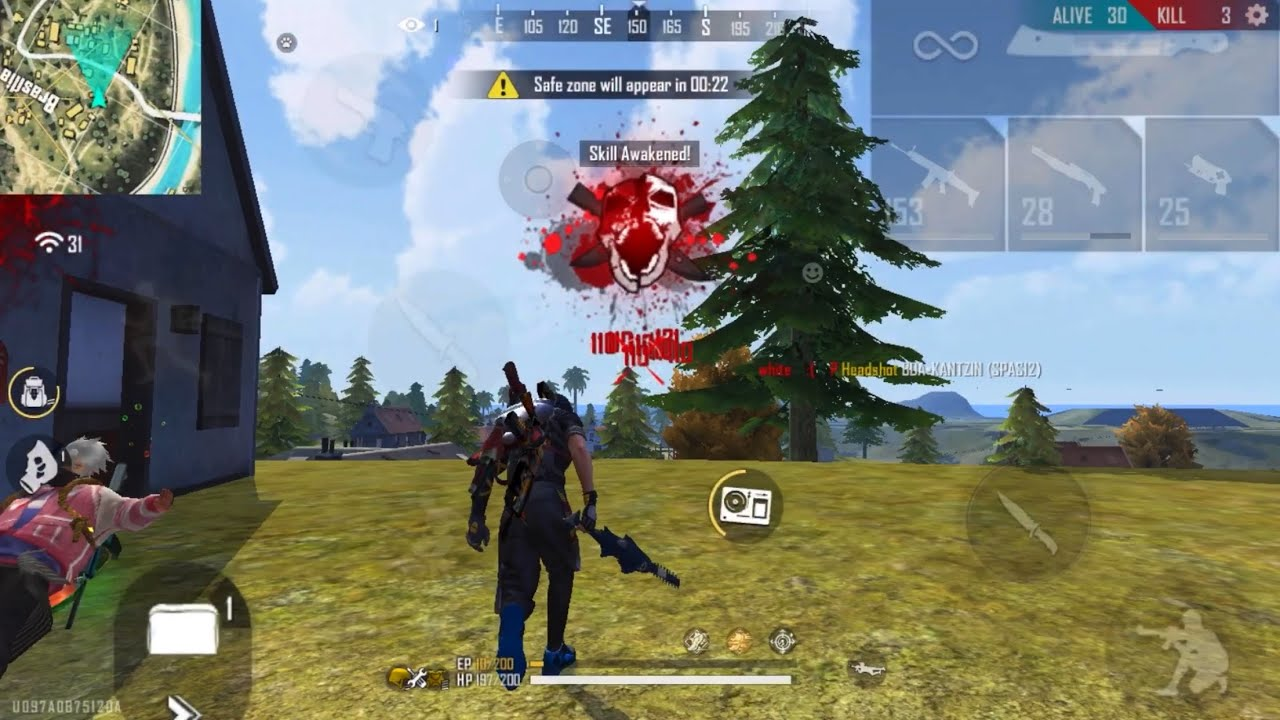 Aimbot iPhone 8 Plus 🚩 Free Fire Highlights