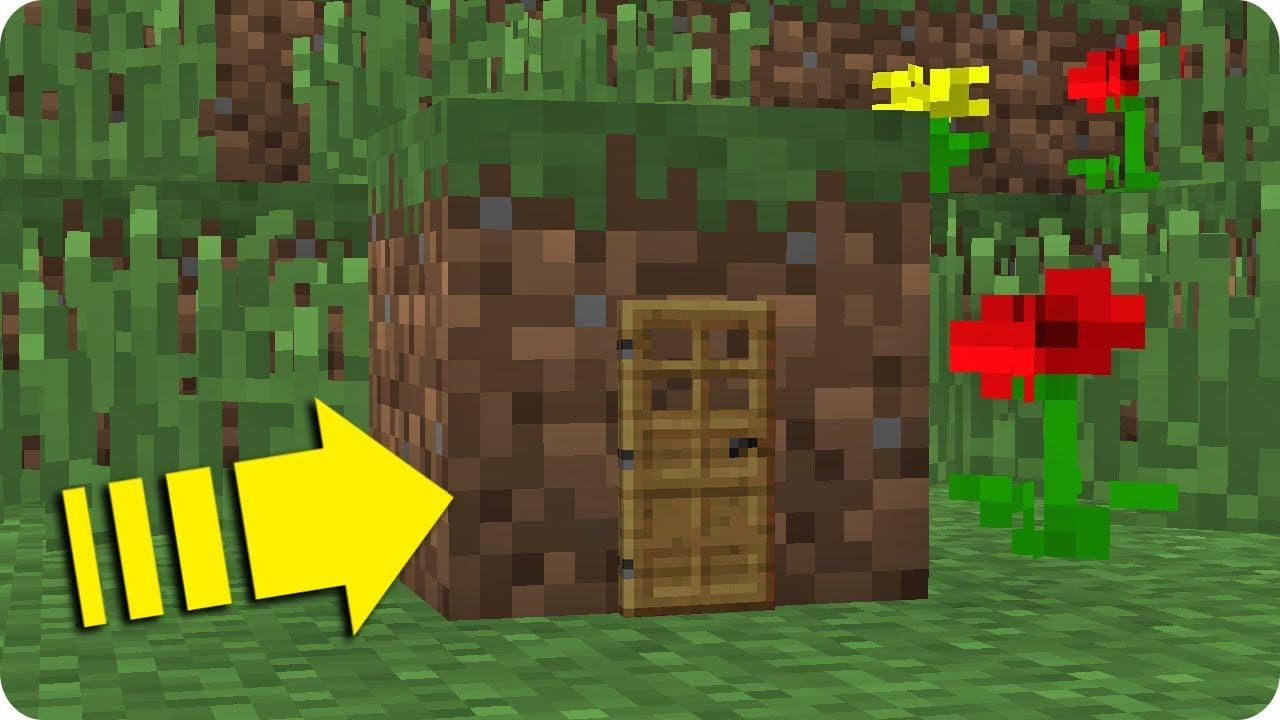 C mo vivir dentro de un bloque de tierra en minecraft for Cama minecraft