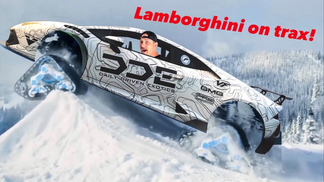 ULTIMATE WINTER LAMBORGHINI ON TRAX CONCEPT?!