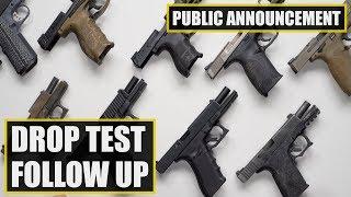 Sig Sauer P320 Drop Test Follow Up