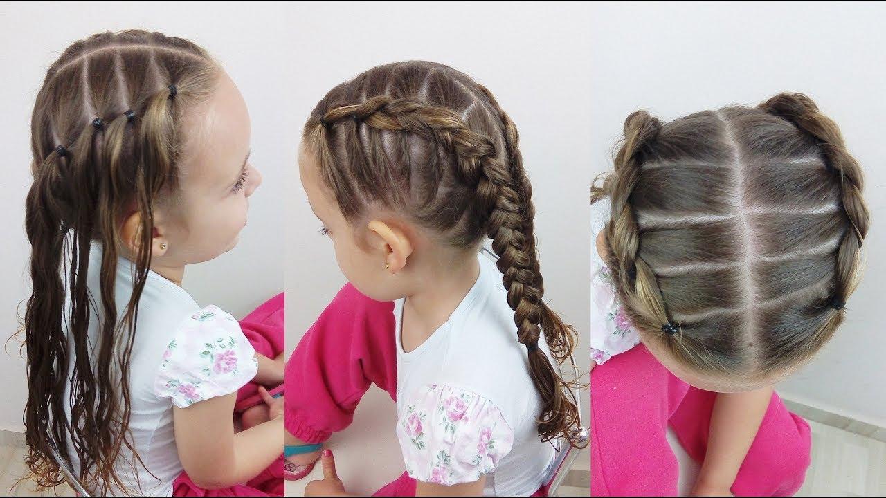 Penteado Infantil Trança Simples Sobre Amarração