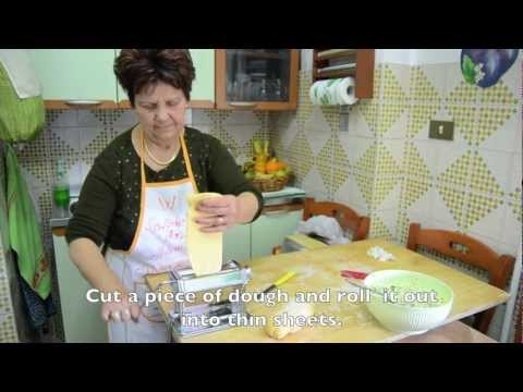 Homemade Ravioli Italian style - cooking with mamma Anna Maria