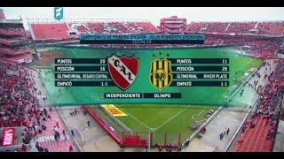 Fútbol en vivo.Independiente - Olimpo. Fecha 16 del torneo de Primera División. FPT.