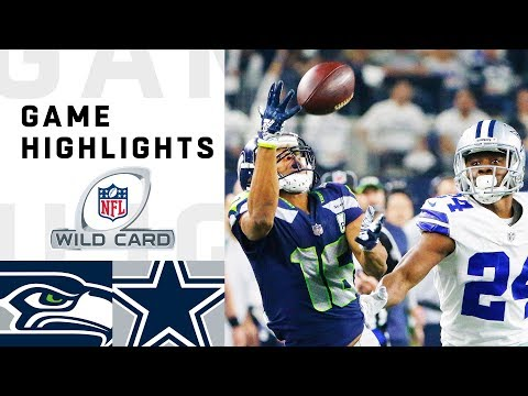 Seahawks vs. Cowboys Wild Card Round Highlights | NFL  Playoffs