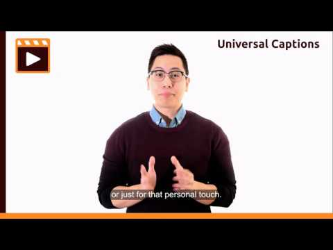 Universal Captions: Adding Corporate Branding and Logos to Videos
