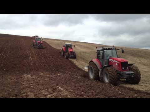 Massey Ferguson ploughing in Tipperary