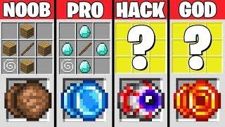 Minecraft Battle : EPIC YOYO CRAFTING CHALLENGE - NOOB vs PRO vs HACKER vs GOD - Animation