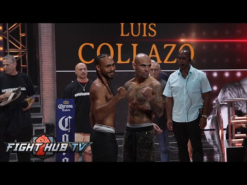 Keith Thurman vs. Luis Collazo full video-Complete weigh in + face off video