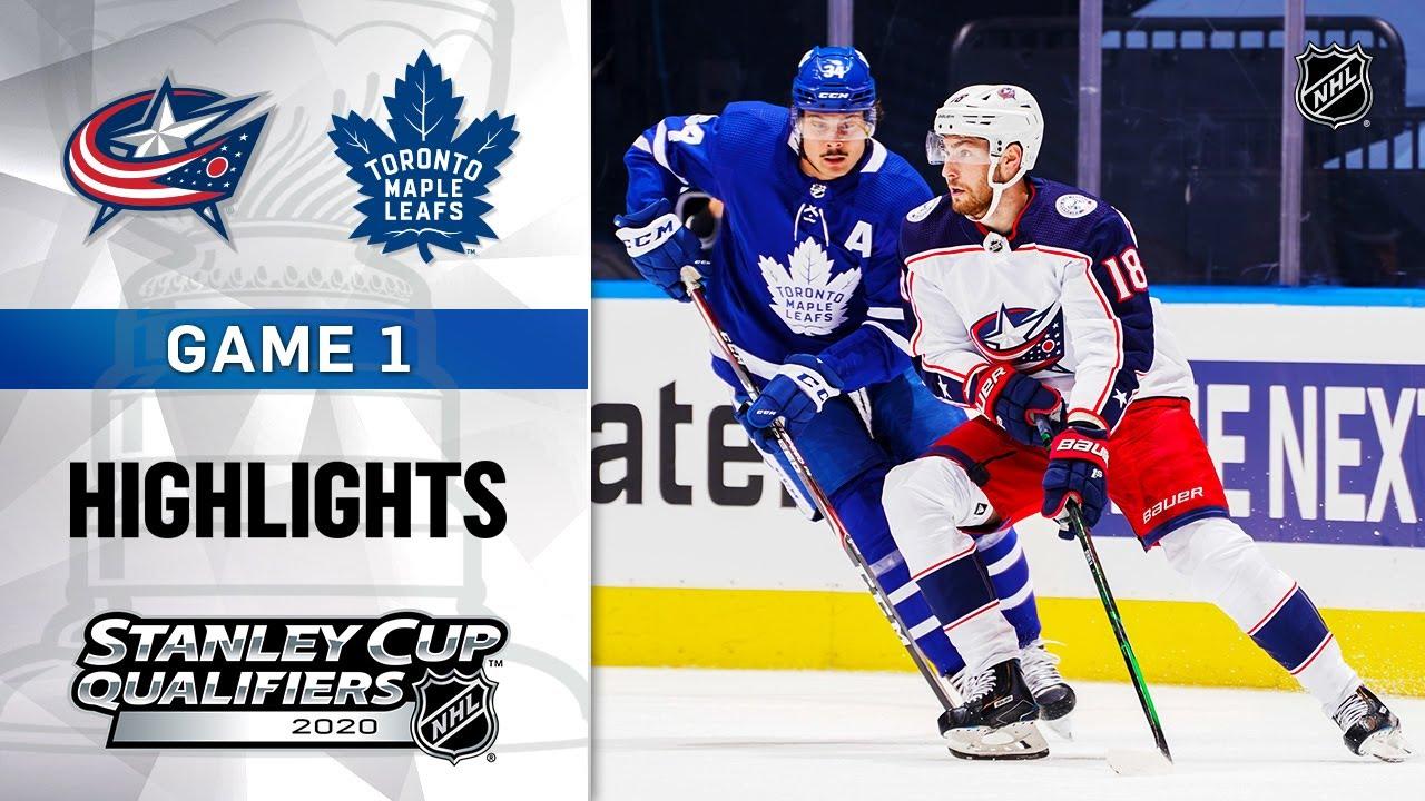 NHL Highlights   Blue Jackets @ Maple Leafs, GM1 - Aug. 2, 2020