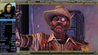 Borderlands 2 Any% Zer0 speedrun in 2:17:33 (2:23:12 RTA)