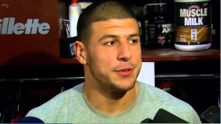 Aaron Hernandez Interview - Back To Playing Football