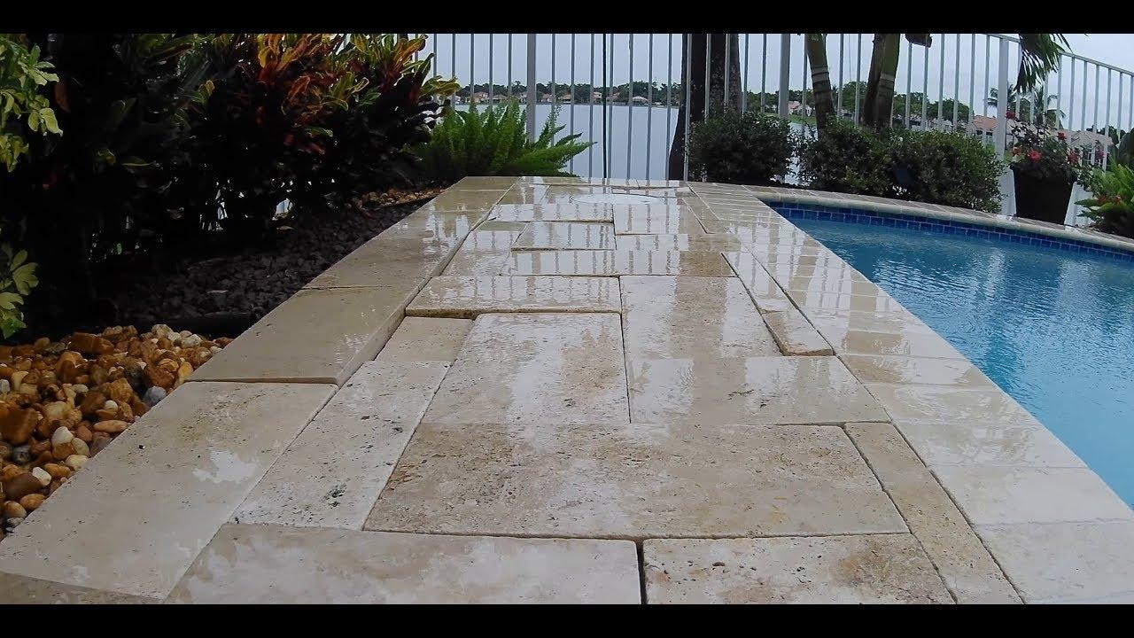 deck repair diy travertine cobble paver wash out leveling