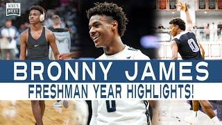 Sierra Canyon Bronny James Freshman Year HIGHLIGHTS!
