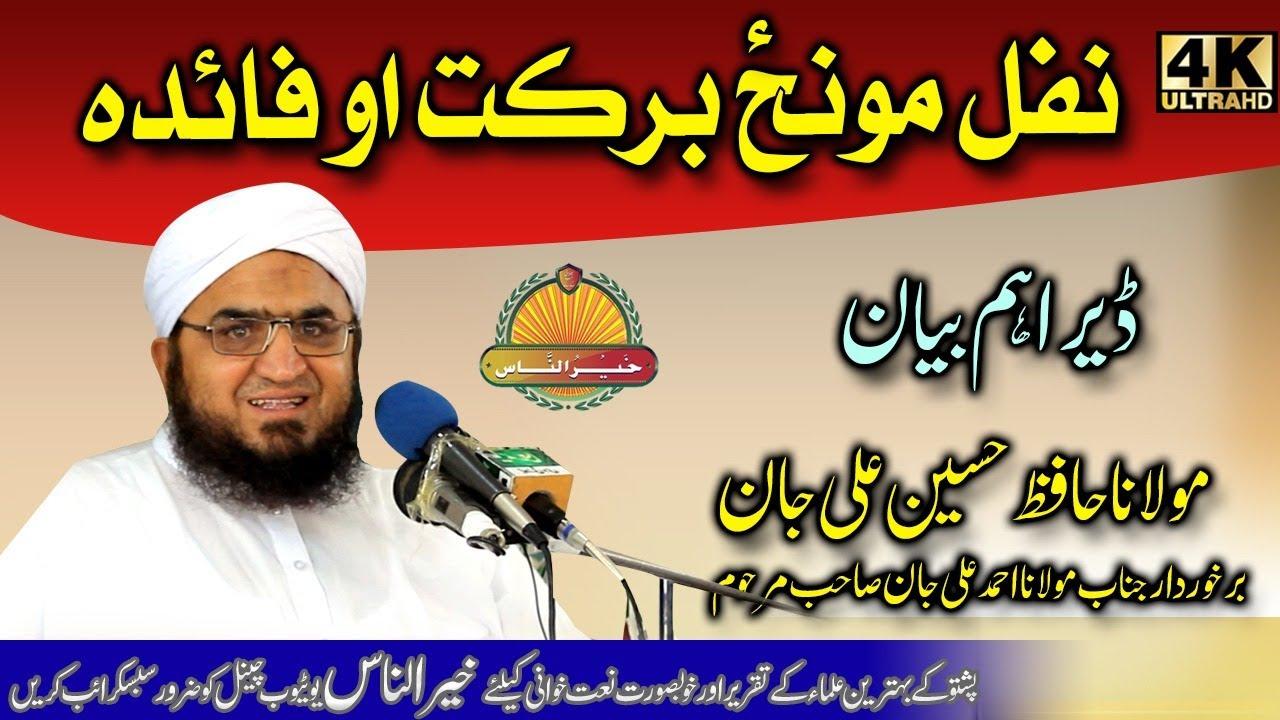 Molana Hafiz Hussain Ali Jan sahb Bayan - Nafal Moonz Barkat O Faida مولانا حافظ حسین علی جان صاحب