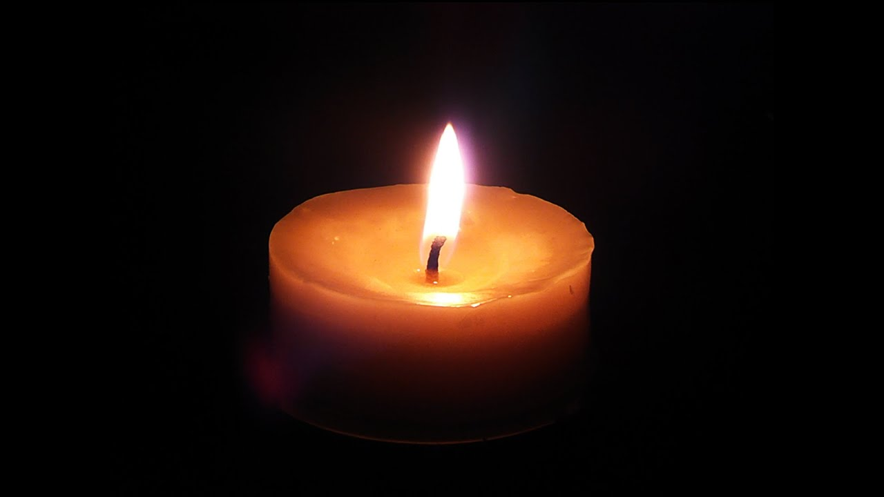 BEAUTIFUL Candle Relaxing Burning flame 10 minutes HD video - YouTube