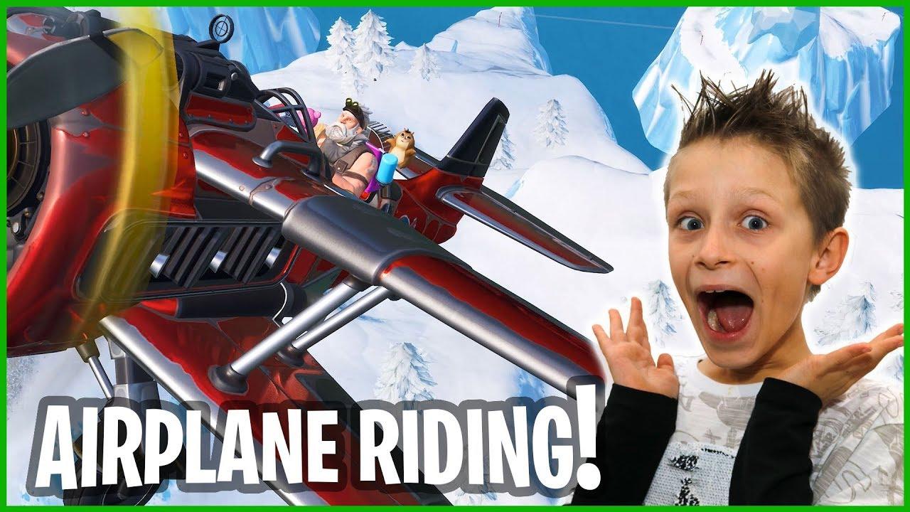 season 7 airplane riding ronaldomg - ronald omg fortnite season 6