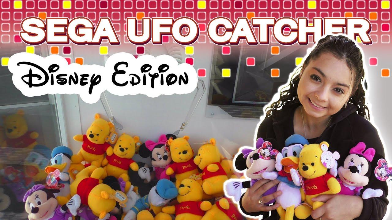 Disney wins at the UFO Catcher  Claw Machine Wins  YouTube