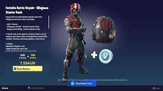 FORTNITE NEW WINGMAN STARTER PACK ET NEW BLUE STRIKER SKIN - PLAYING WITH SUBS