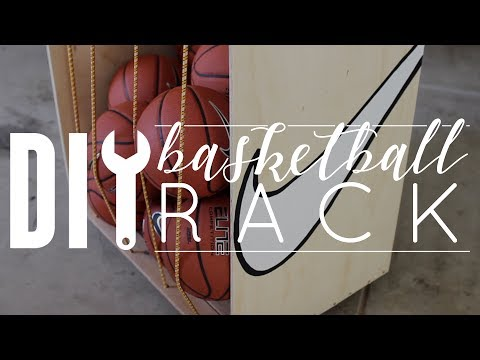 DIY Basketball Rack & Storage
