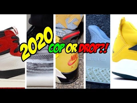2020 UPCOMING HYPED SNEAKER RELEASES