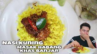 Nasi kuning Rice Cooker dan Masak Habang khas Banjar