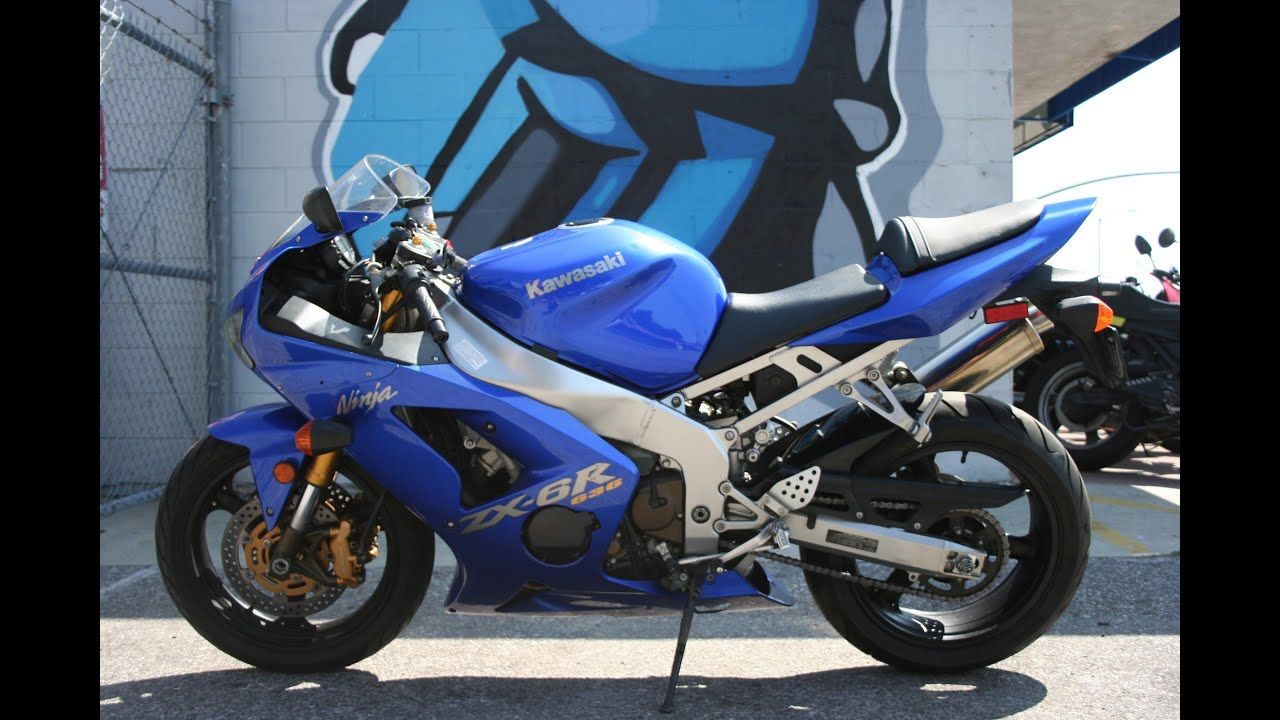 2004 Kawasaki Ninja ZX6R 636 Motorcycle For Sale oNLY