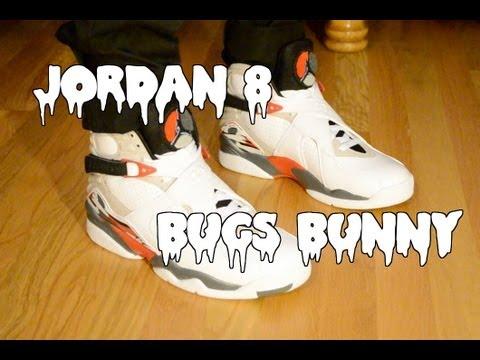 Jordan 8 Bugs Bunny On Feet