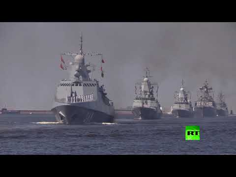 بروفة العرض البحري العسكري في سان بطرسبورغ  - نشر قبل 4 ساعة